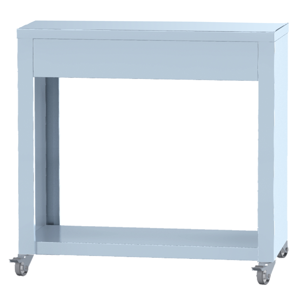 Eurast 4492RG13 Open support with wheels - 800x380x740 mm