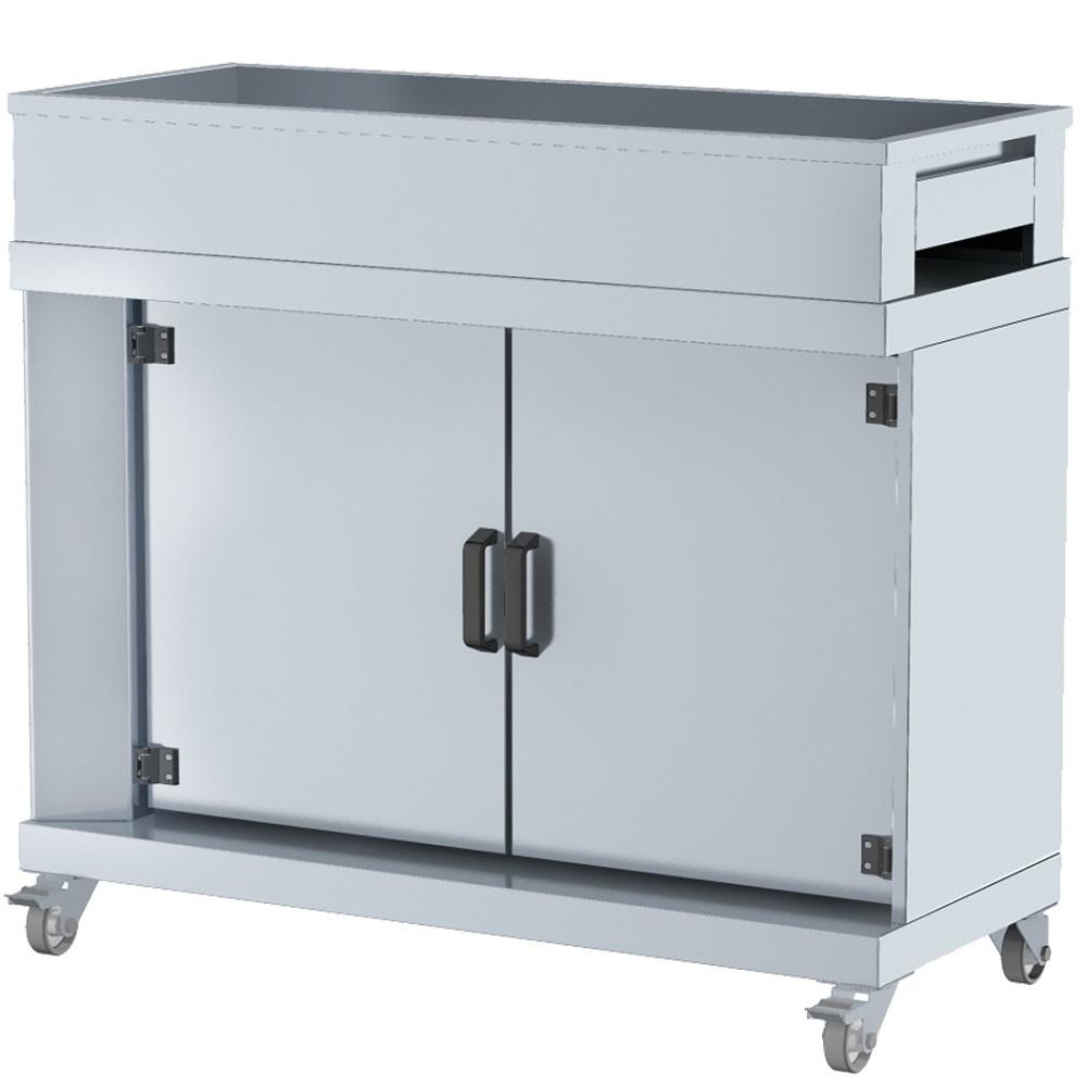 Eurast 5302BG13 Cutting cabinet 2 doors - 1200x500x1050 mm
