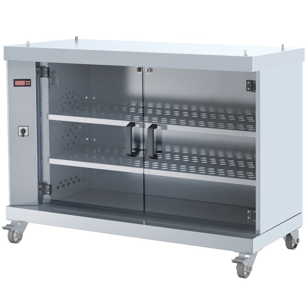 Eurast 53010G13 Electric hot display case serie m 3 shelves 2 doors - 1200x500x900 mm - 2000 W 230/1