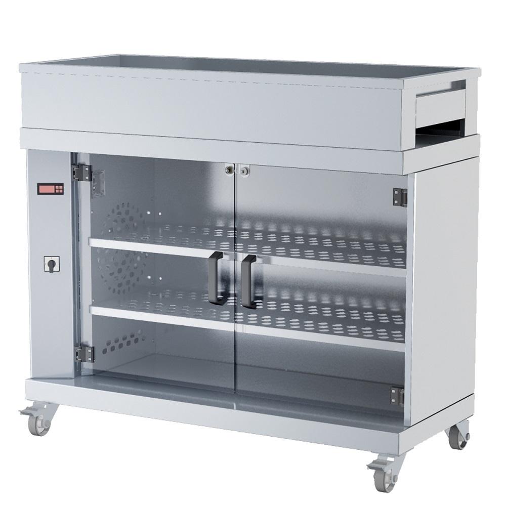 Eurast 5301BG13 Electric warm display case  3 shelves, 60 chickens - 1200x500x1050 mm - 2000 W 230/1