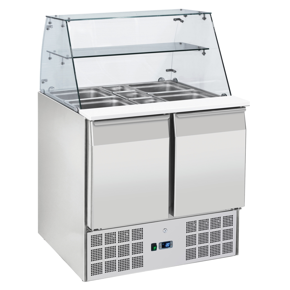 SALAD PREPARATION CABINET WITH DISPLAY