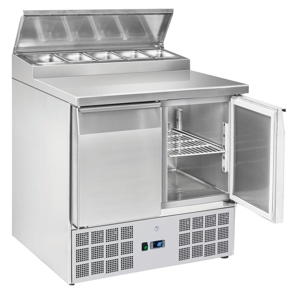 Eurast 72A09SRC Unit for preparing sandwiches 2 doors 5 trays 1/6-150 - 900x700x880 mm - 300 W 230/1