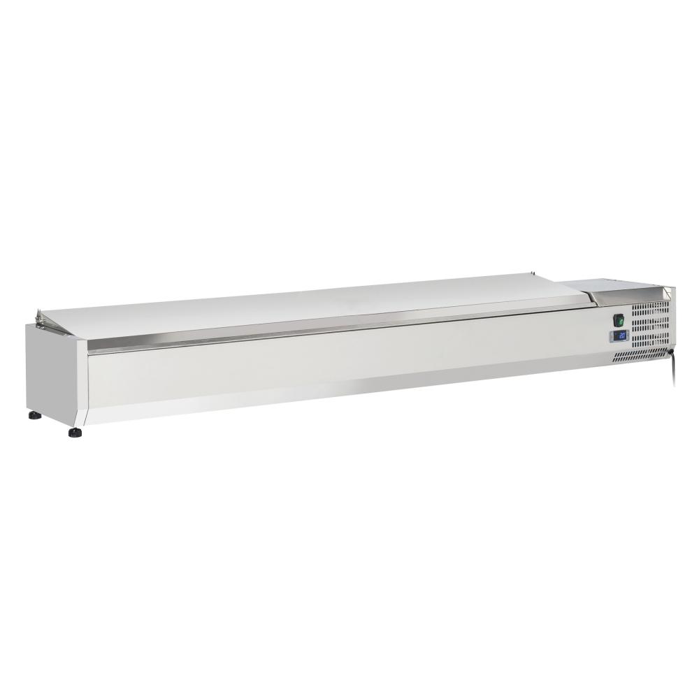 Eurast 79T8302X Refrigerador de ingredientes 9 cubetas gn 1/3 - 2000x395x280 mm - 160 W 230/1V