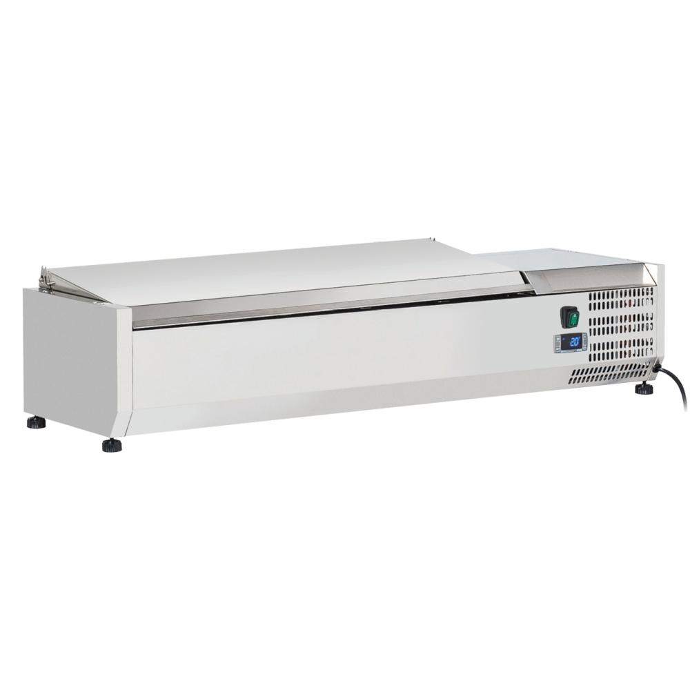 Eurast 74T8321X Refrigerador de ingredientes 4 cubetas gn 1/3 - 1200x395x280 mm - 160 W 230/1V