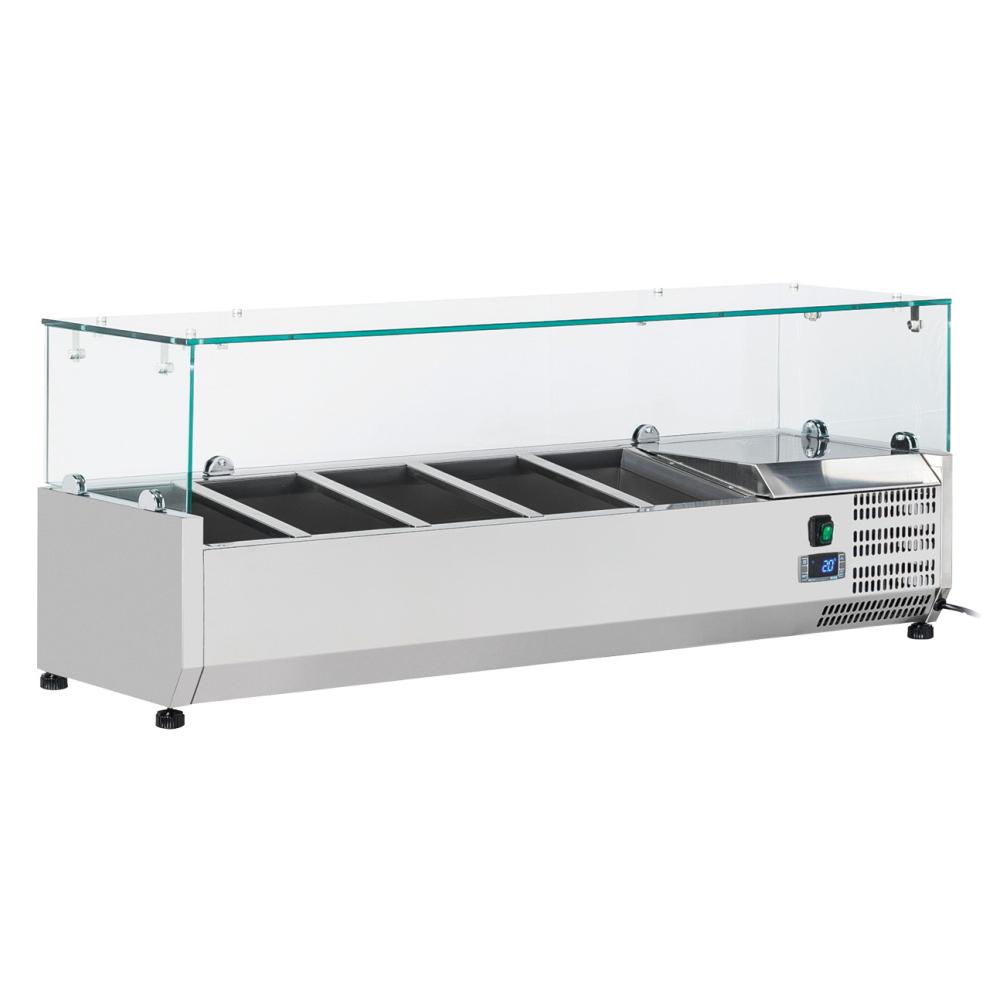 Eurast 75V3321X Refrigerador de ingredientes 5 cubetas gn 1/4 - 1200x335x440 mm - 160 W 230/1V