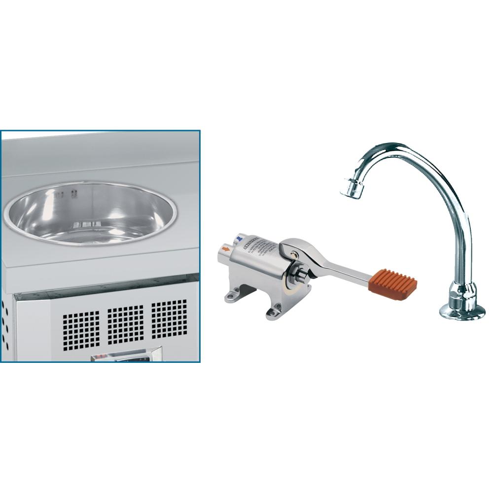 Eurast 63390000 Suplemento lavamanos con grifo y pulsador
