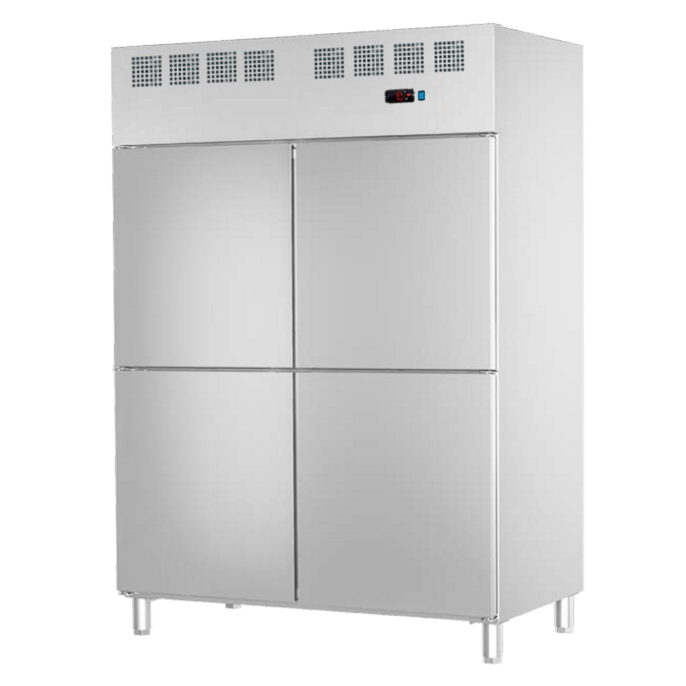 Eurast 79399509 Refrigerated cabinet 4 doors 530x650 gn 2/1 or 400x600 - 1400x820x2010 mm - 700 W 23