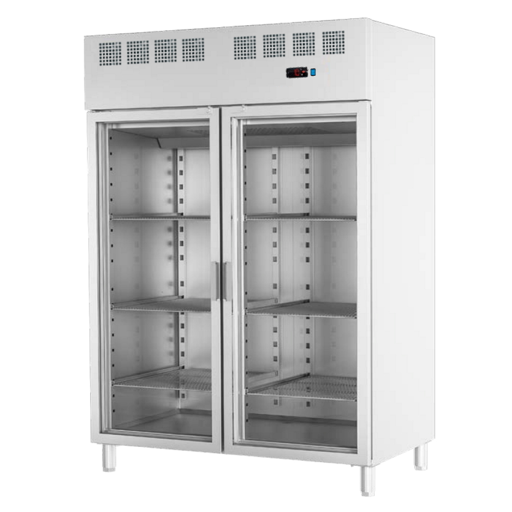 Eurast 72699509 Refrigerated cabinet 2 glass doors 530x650 gn 2/1 or 400x600 - 1400x820x2010 mm - 70