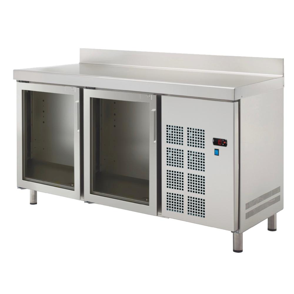 Eurast 75579509 Cold table 2 glass doors - 1500x600x850 mm - 400 W 230/1V