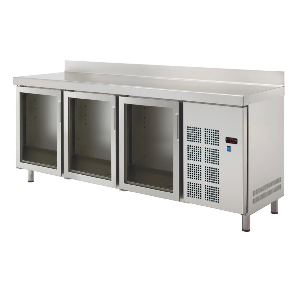 Eurast 77089509 Cold table 3 glass doors - 2020x600x850 mm - 400 W 230/1V