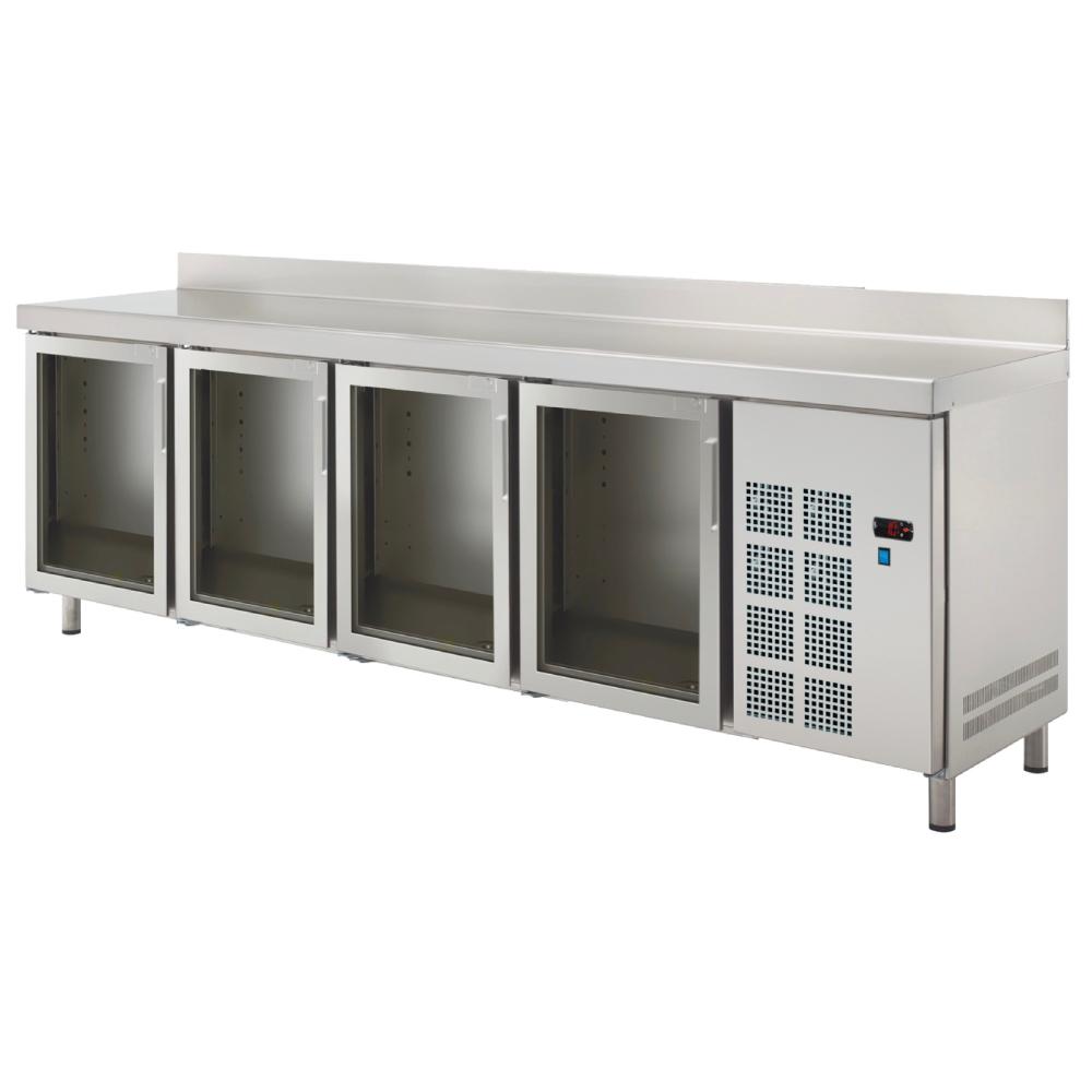 Eurast 73289509 Cold table 4 glass doors - 2545x600x850 mm - 400 W 230/1V