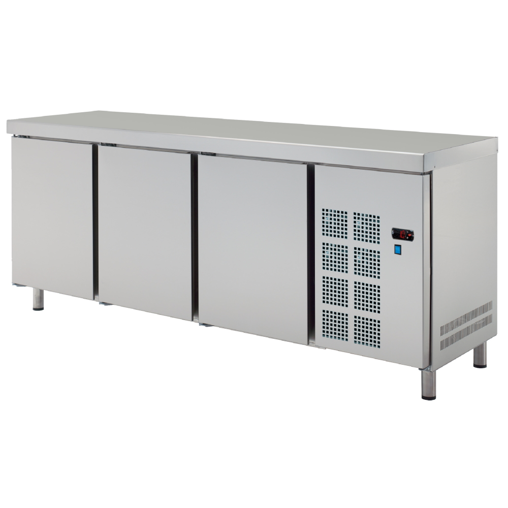 Eurast 7C197950 Central cold table 3 doors - 2020x600x850 mm - 400 W 230/1V