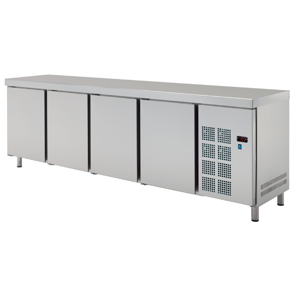 Eurast 7C028950 Central cold table 4 doors - 2545x600x850 mm - 400 W 230/1V