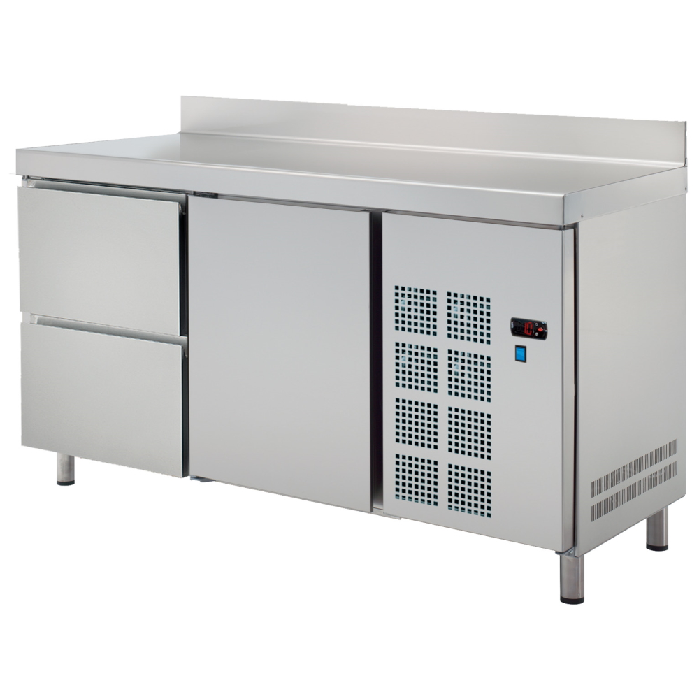 Eurast 71679509 Cold table 1 door 2 drawers - 1500x600x850 mm - 400 W 230/1V