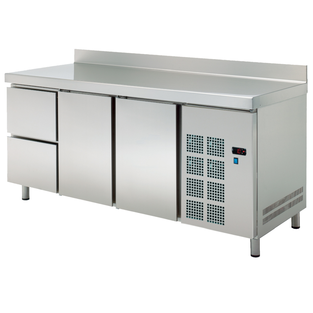 Eurast 72189509 Cold table 2 doors 2 drawers - 2020x600x850 mm - 400 W 230/1V