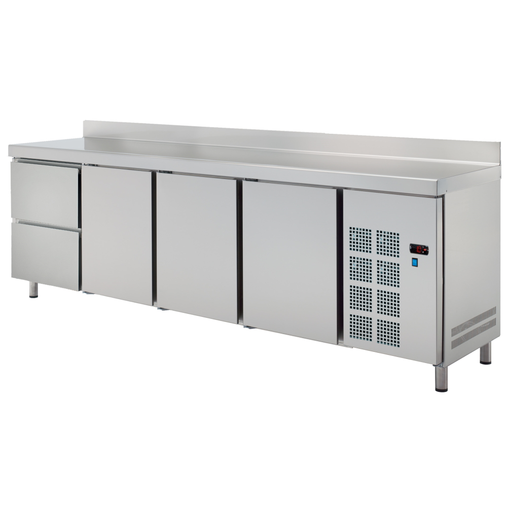 Eurast 73770609 Cold table 3 doors 2 drawers - 2545x600x850 mm - 400 W 230/1V