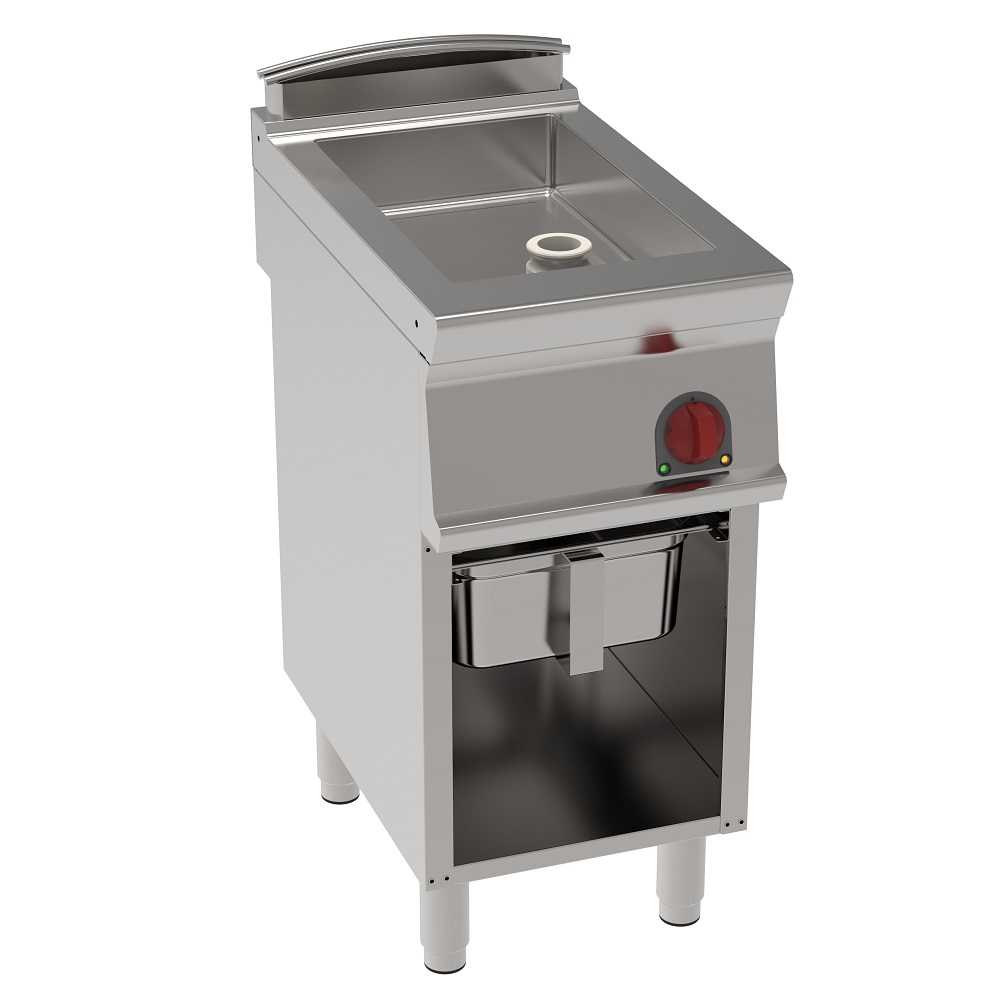 Eurast 48170617 Electric fixed bratt pan 15 litres on open support - 400x700x900 mm - 4,5 Kw 400/3V