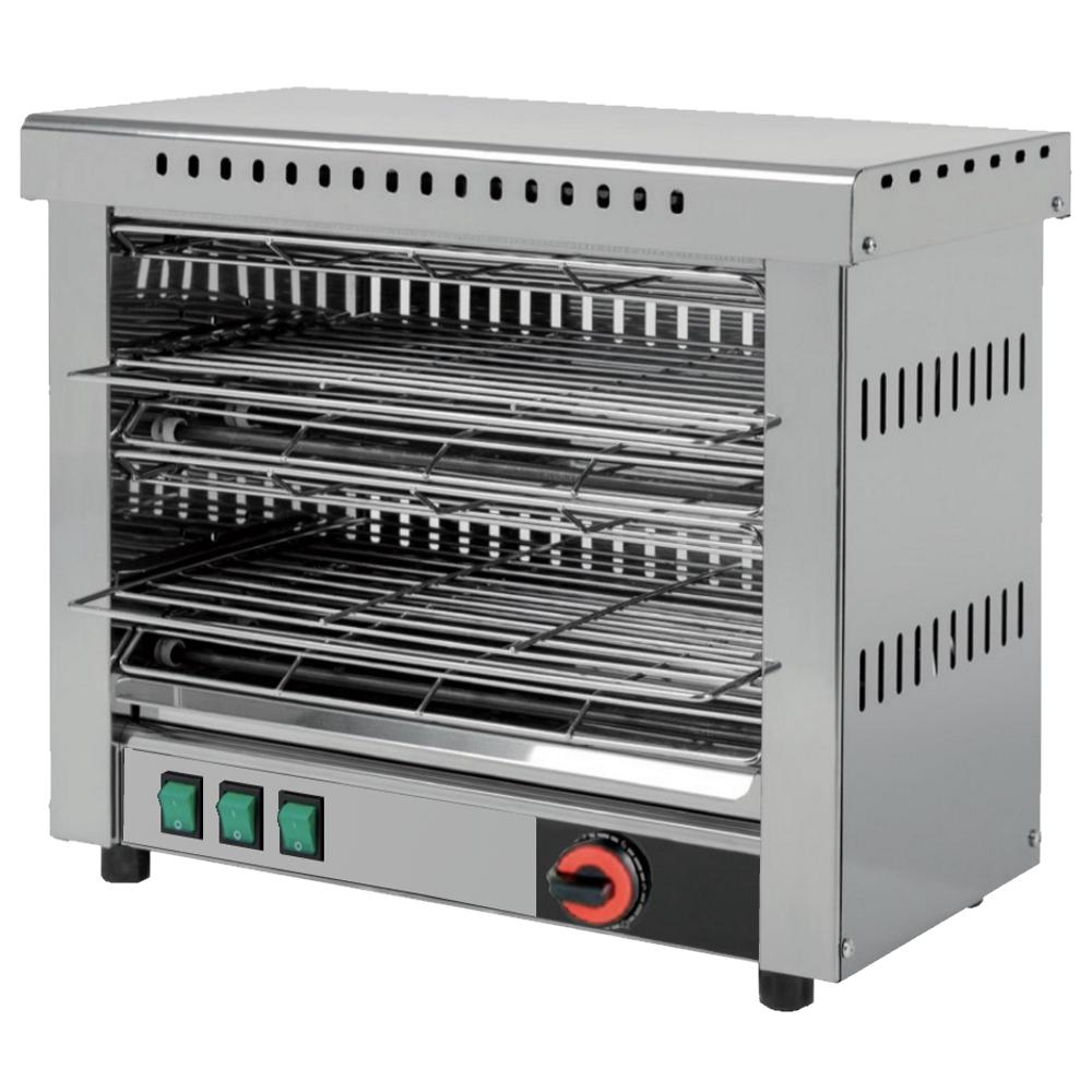 Eurast 4310N0C6 Electric toasters 2 shelves 380 x 230 - 485x260x400 mm - 3,6 Kw 230/1V