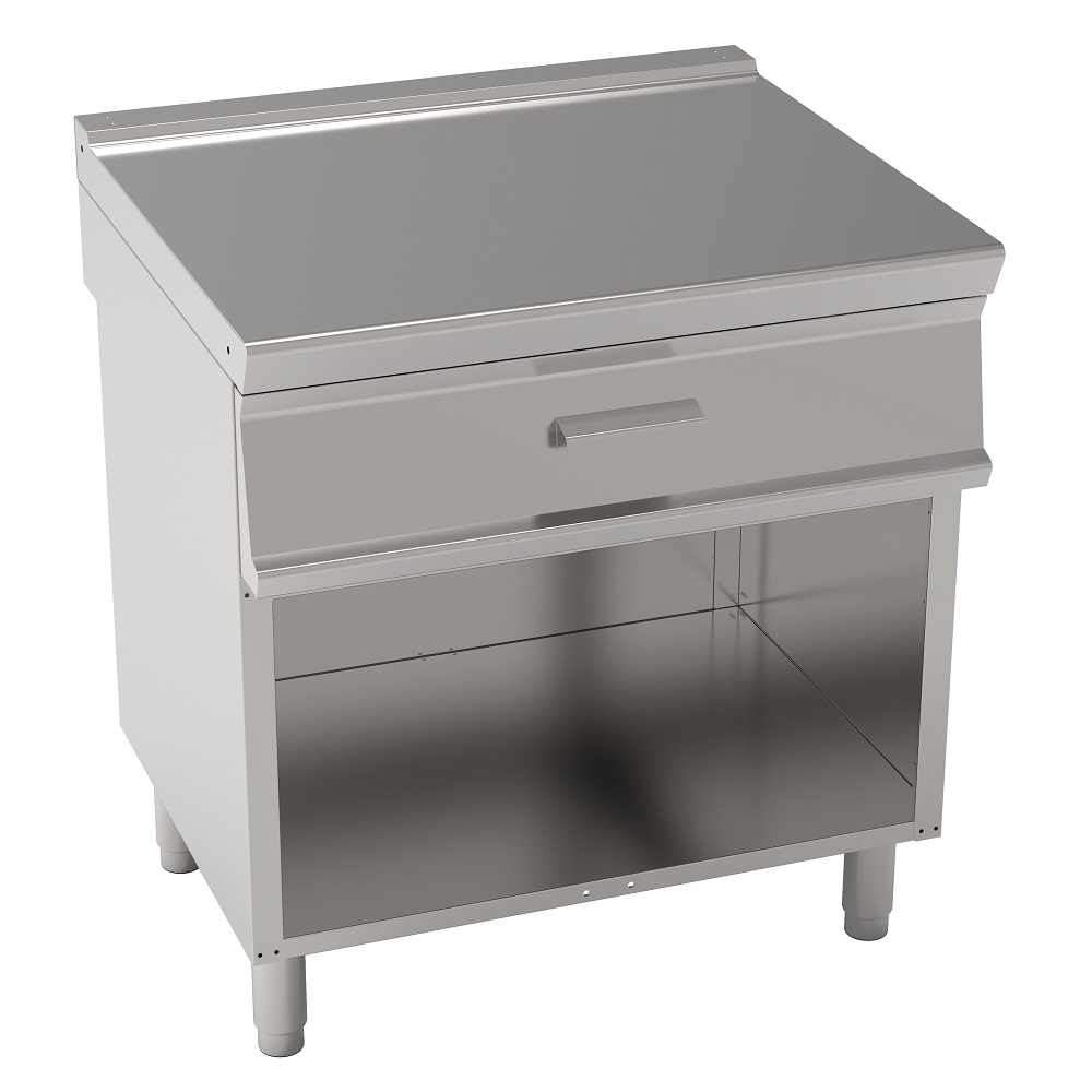 Eurast 38407697 Working area table with 1 drawer on open support - 800x700x900 mm