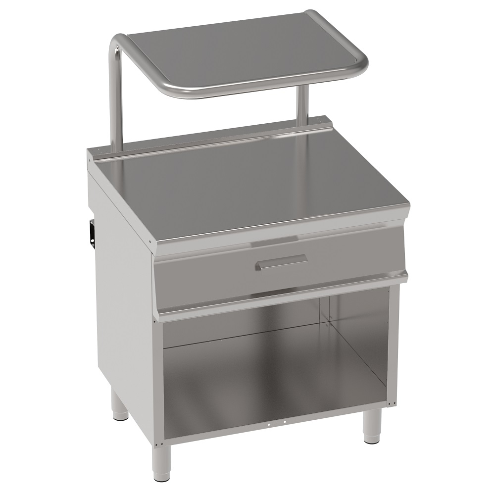Eurast 38890617 Working area table 1 drawer and shelf on open support - 800x700x900 mm