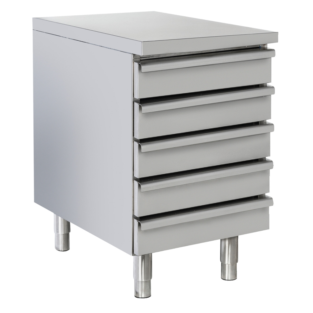 Eurast 7490005D Mueble de cajones para pasta 5 cajones - 525x800x880 mm