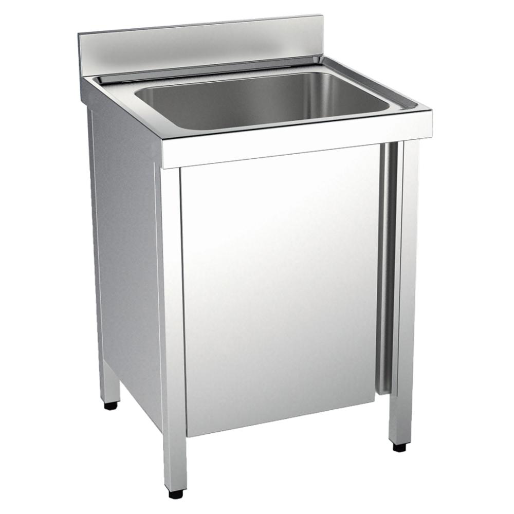 Eurast 24130017 Sink with doors 1 bowl 860x500x380 - 1000x700x850 mm
