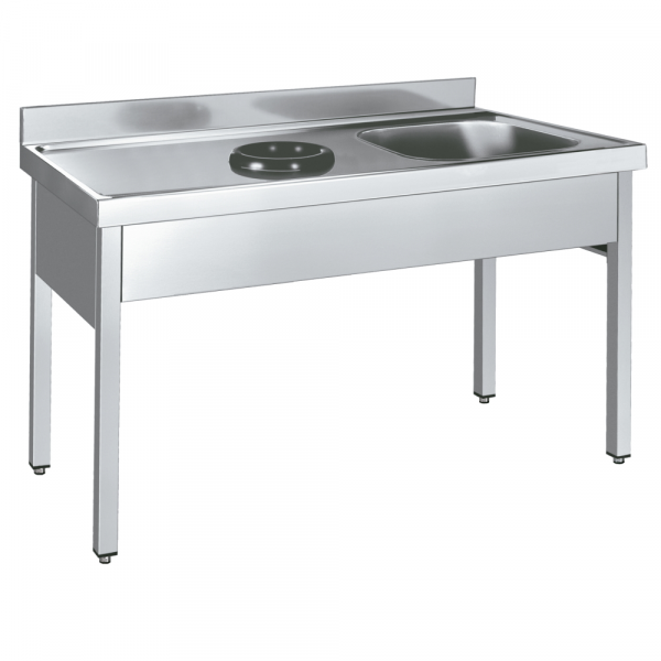 Eurast 249I4160 Sink with frame with bowl and discharge ring - 1400x600x850 mm