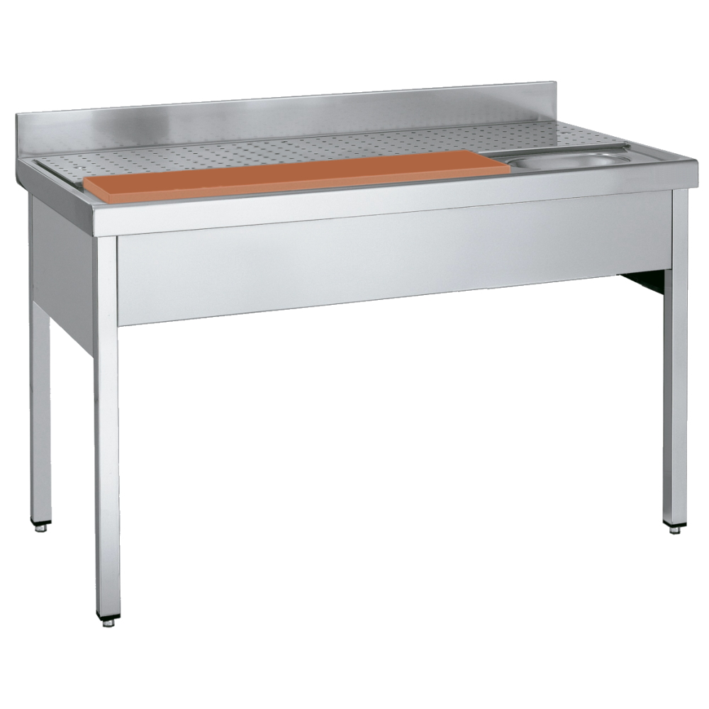 Eurast 208C4107 Sink with frame for meat washing - 1400x700x850 mm