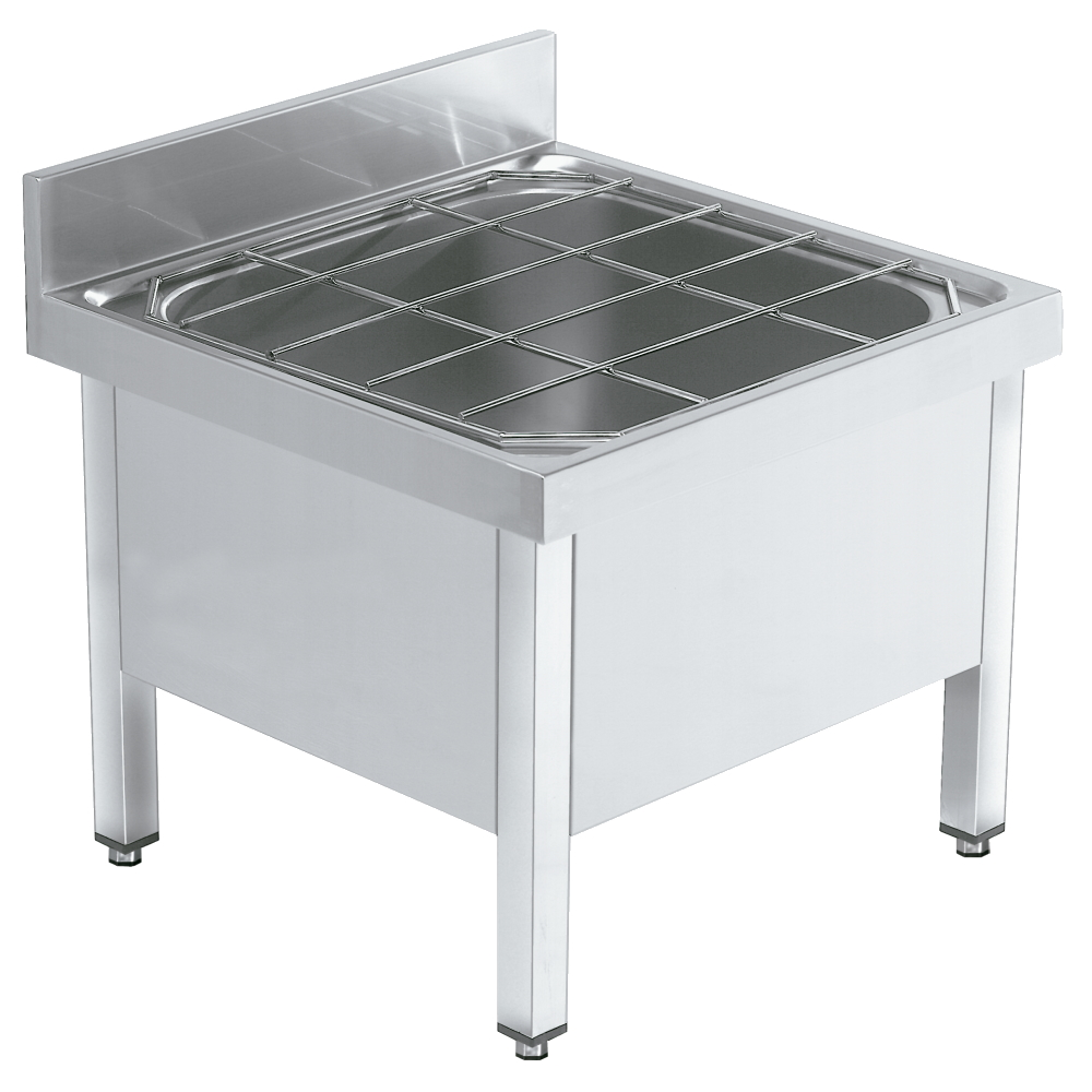 Eurast 22475507 Dump sink with support and grid - 700x700x460 mm