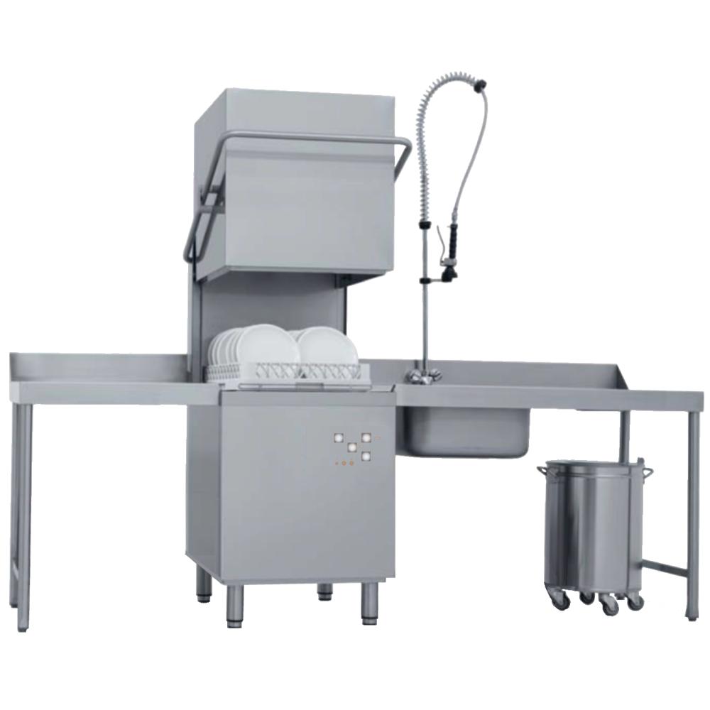 Eurast 46MATS05 Dome dishwasher basket 500x500 - 45 baskets/h - 640x740x1480 mm - 8,5 KW 400/3V