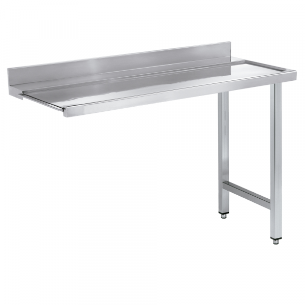 Eurast 16712SMS Dishwasher in/out table smooth and mural - 2100x750x850 mm