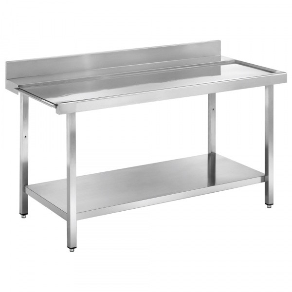 Eurast 16711EMS Dishwasher in/out table smooth and mural - 1100x750x850 mm
