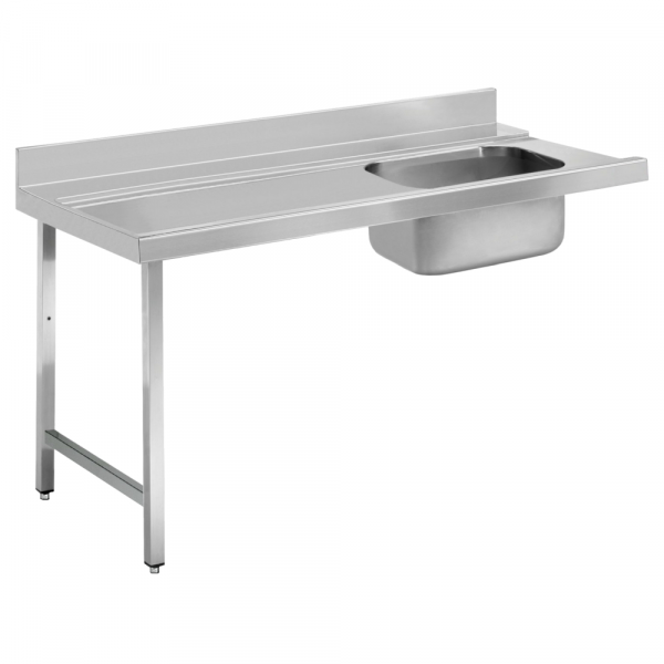 Eurast 16D61CSM Dishwasher in/out table with 1 sink - 1600x750x850 mm