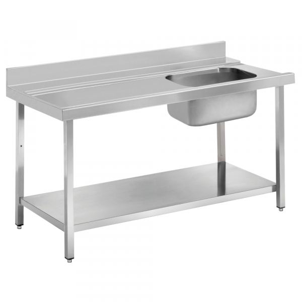 Eurast 16D11CEM Dishwasher in/out table with 1 sink - 1100x750x850 mm