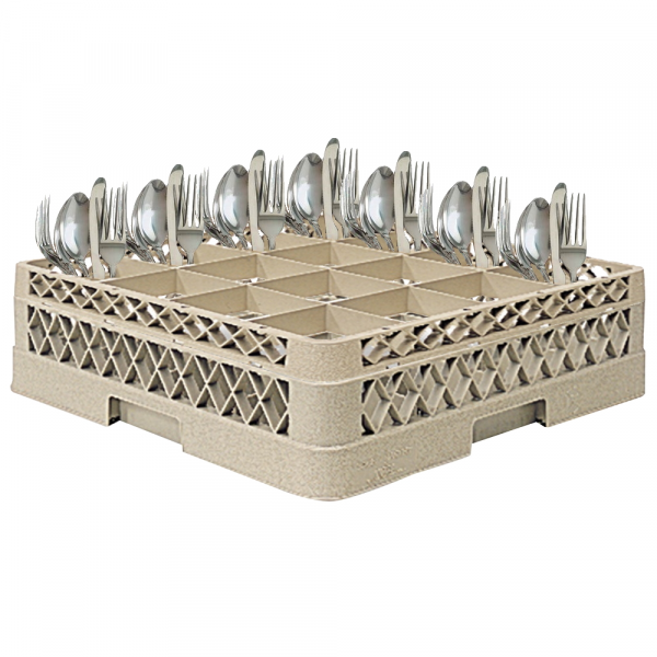 Eurast 95016 Dishwasher basket with 16 cutlery compartments - 500x500x120 mm