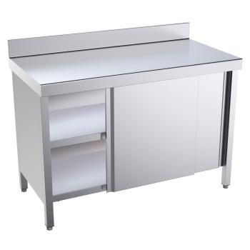 Eurast 18006PMF Table with doors 1 door 2 shelves - 800x600x850 mm