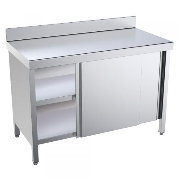 Eurast 18007PMF Table with doors 1 door 2 shelves - 800x700x850 mm