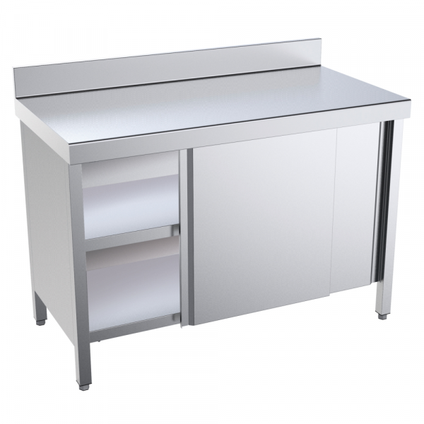 Eurast 10207PMF Table with doors 2 doors 2 shelves - 2000x700x850 mm