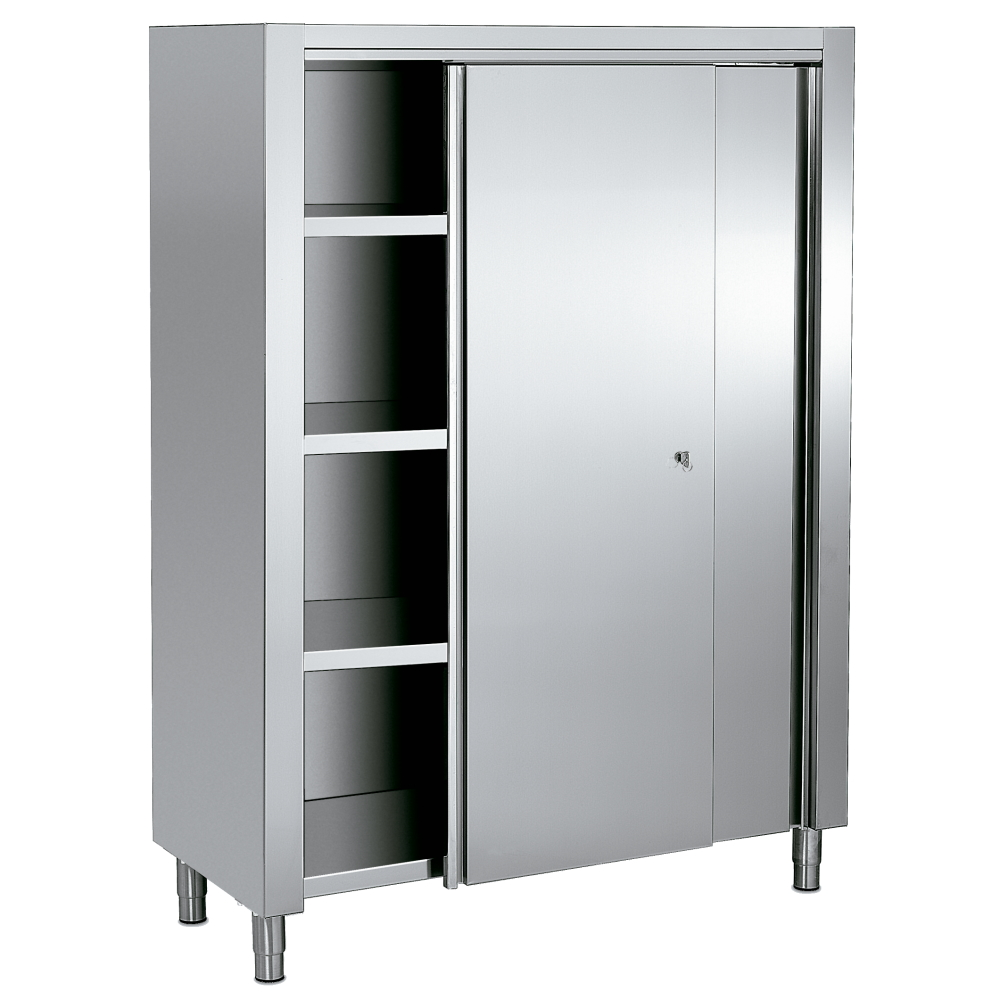 STAINLESS CABINET WITH DOORS