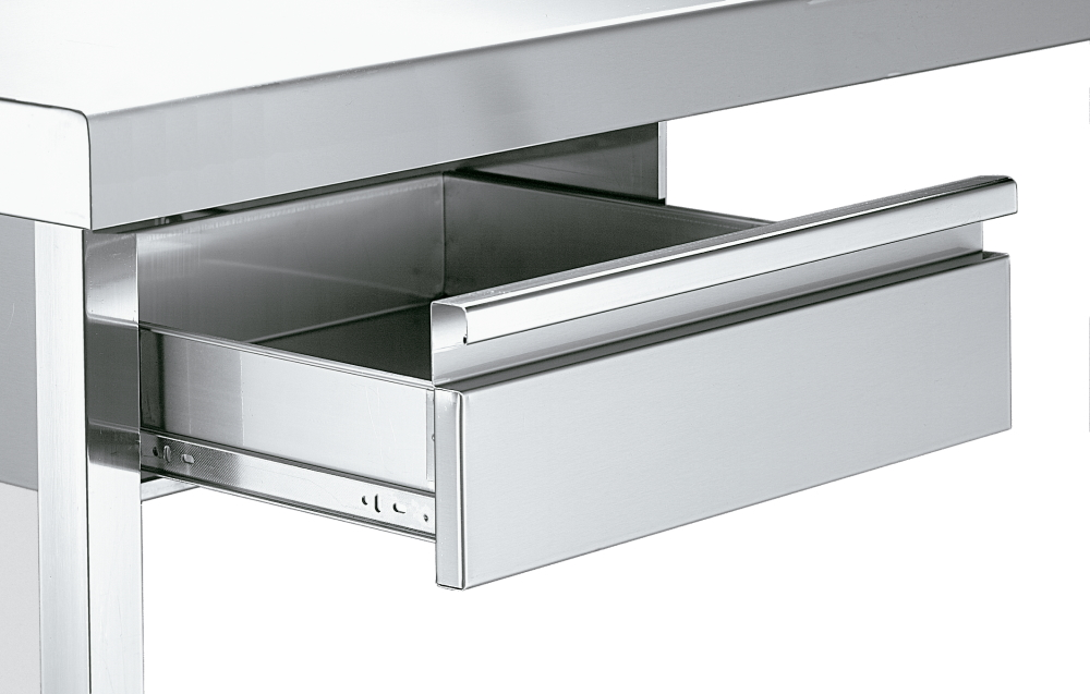 Eurast 12030200 Drawer with sliding guide for work tables - 460x450x150 mm