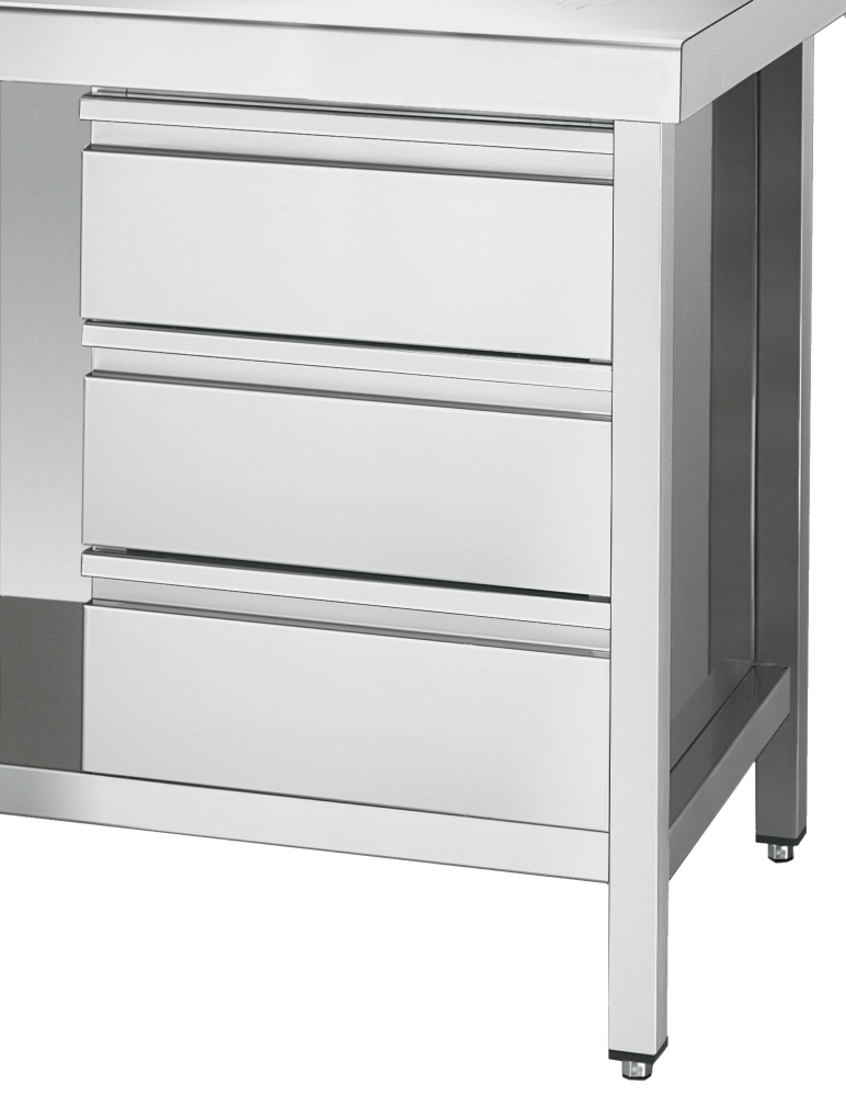 Eurast 10406C3B 3 drawer buck with guides for work tables 600 - 400x510x590 mm