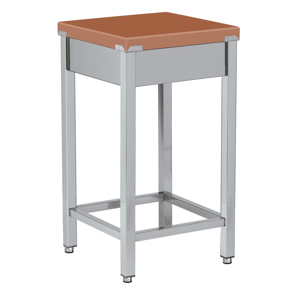 Eurast 16030300 Polyethylene cutting table brown - 500x500x850 mm