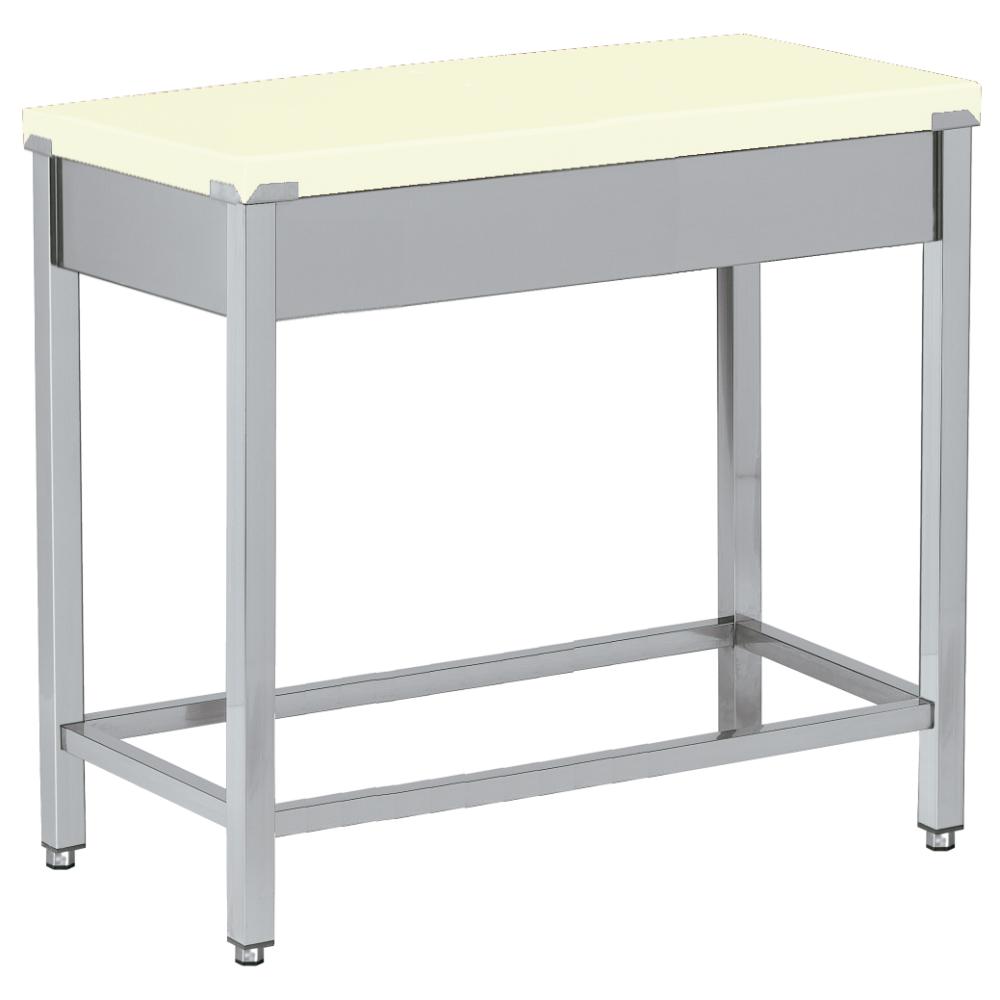 Eurast 18530300 Polyethylene cutting table white - 400x600x850 mm