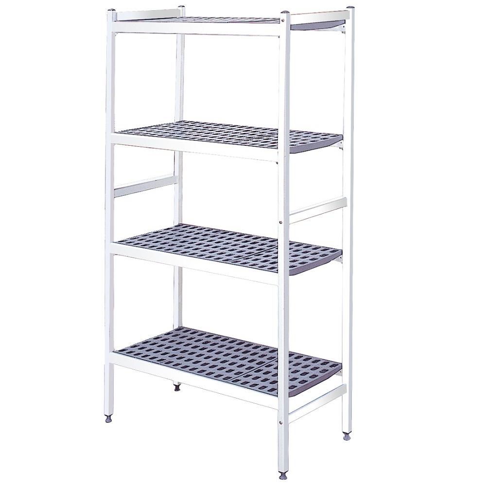 Eurast 79934000 Duraluminium shelves 4 levels - 799x370x1700 mm