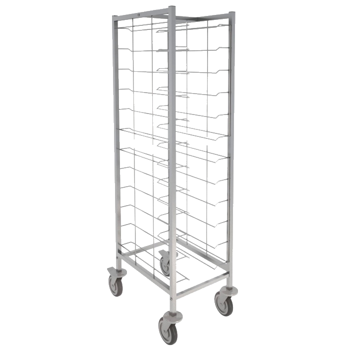 Eurast 91011620 12 guide trolley for self-service trays - 570x650x1720 mm
