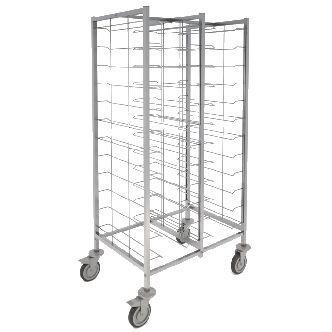 Eurast 91021620 12+12 guide trolley for self-service trays - 970x650x1720 mm
