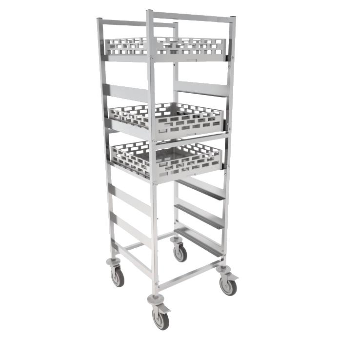 Eurast 92071620 Trolley for self glasses capacity 7 baskets 500x500 - 625x640x1720 mm