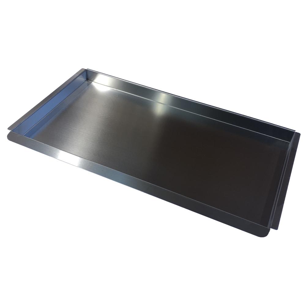 Eurast 4A55100C Bandeja para horno para gama 550 snack - 650x370x40 mm